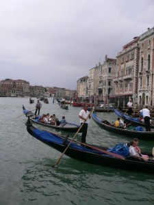 A romantic ride in a gondola in Venice, Italy is a perfect way to spend your honeymoon in Europe