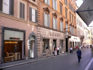 Designer boutiques and shops in Italy