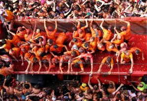 La Tomatina is one of Spain's most popular festivals