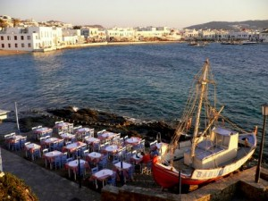 The Greek Island of Mykonos is a very popular cruise ship destination in Europe