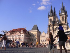 Prague's Old Town Square (Staromestske Namesti) dates back to the 12th century