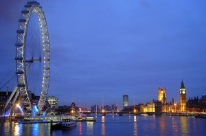 The must-see London Eye and Houses of Parliament