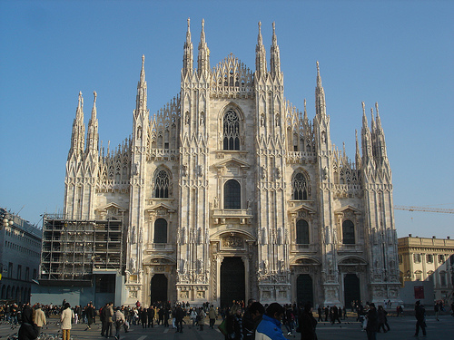 The Milan Cathedral is one of the largest churches in the world