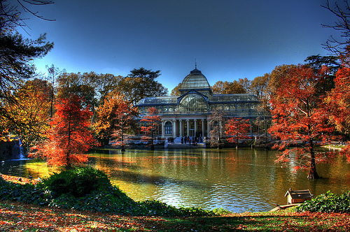 The Palacio de Cristal (Crystal Palace) in Madrid's beautiful Parque del Retiro