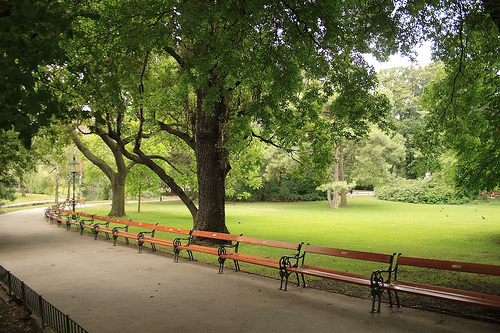 A quiet day at Stadtpark, Vienna