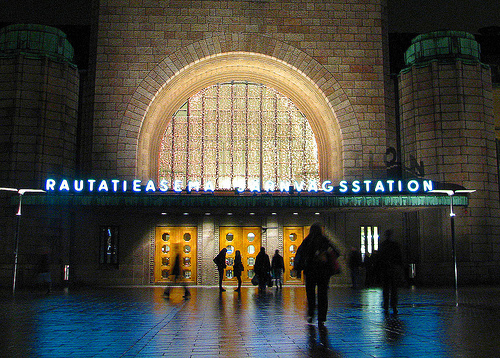 The west entrance of the Helsinki Central railway station