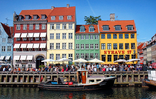Nyhavn is a popular canal and entertainment district in Copenhagen
