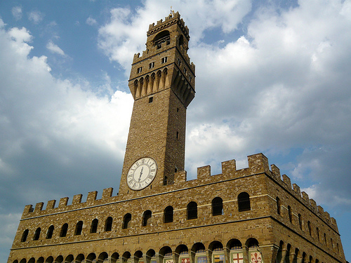 Palazzo Vecchio is one of the most impressive town halls in Tuscany