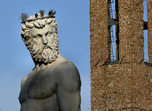 The Fountain of Neptune in Florence's Piazza della Signoria