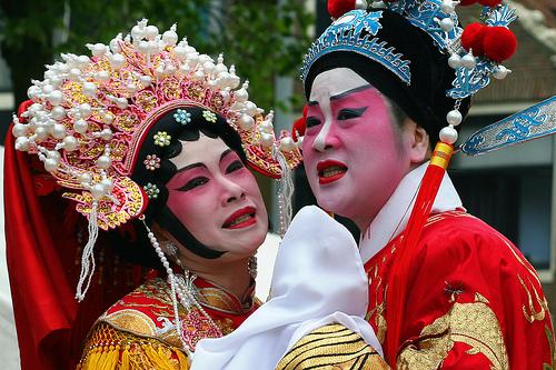 Cantonese opera in Amsterdam's Chinatown