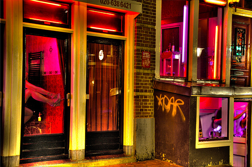 Window parlours in Amsterdam's Red Light District