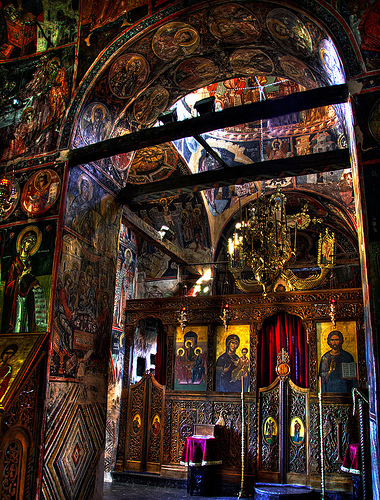 The interior of a Meteora monasteries - Photo: momentary