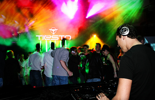 DJ Tiesto at a club in Reykjavik