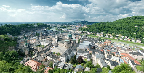 A panoramic view of Salzburg, Austria